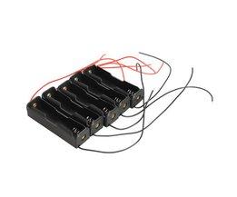 5X Single Slot 18650 Mobiele Batterij Clip Case Houder met Draad Leads DIY