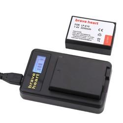 MyXL 2x LP-E10 LPE10 LP E10 Camera Bateria Batterie AKKU + LCD oplader voor canon 1100d 1200d 1300d rebel t3 t5 kiss x50 x70