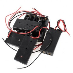 MyXL 7 Stks Zwart Rood 2-Wire Kabel Connectors 2x AAA Batterij Box Case Houder