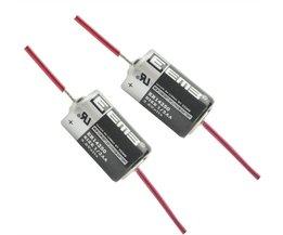 2 Stks/partij EEMB ER14250 1/2AA 3.6 V 1200 mAh Lithium Batterij Met lassen