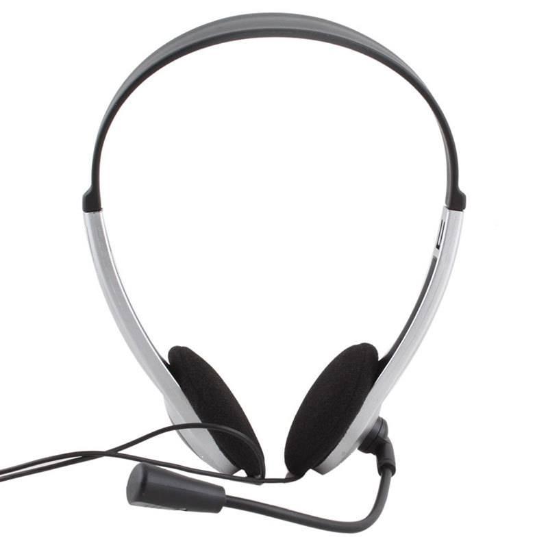 3.5mm Stereo Oortelefoon Hoofdband Headset Hoofdtelefoon Met Microfoon MIC VOIP Skype voor PC Comput