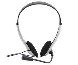 3.5mm Stereo Oortelefoon Hoofdband Headset Hoofdtelefoon Met Microfoon MIC VOIP Skype voor PC Computer Laptop #21228