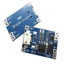 MyXL 2 stks Micro USB Lithium Acculader Module 1A Micro USB 5 V 18650 TP4056 Lithium Batterij Opladen Module en bescherming Boord