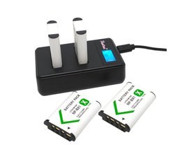 4x NP-BX1 Batterij NP BX1 bateria + Poosue LCD Oplader Voor Sony DSC-RX100 WX500 HX300 WX300 X3000R MV1 AS30V HDR-AS300 AS200V AS20