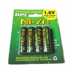 MyXL Gratis verzending4 stks/partij bpi aa 2500 mah 1.6 v 1.5 v ni-zn ni zn nizn batterijen oplaadbare batterij