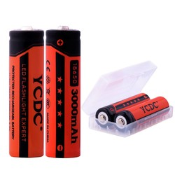 MyXL YCDC 2 Stks/partij 3.7 V 18650 Oplaadbare Ion Batterij 3000 mAh voor Led Zaklamp Zaklamp Speelgoed Camera Bateria + gratis batterij box