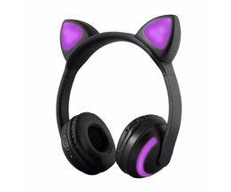 SOONHUA Kat Oor Hoofdtelefoon LED Oor Hoofdtelefoon Kat Oortelefoon Knipperende Glowing Headset Gaming Koptelefoon voor Volwassen en Kinderen