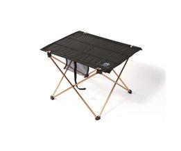 Outdoors Tafel Voor Camping ultralichte Aluminium Picknick Klaptafel Outdoor Tavel Draagbare Tafels Zwart