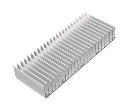 Aluminium Zilver Koellichaam Voor Elektronica Computer Elektrische Apparatuur 150x60x25mmElektrische elektrische Keramiek