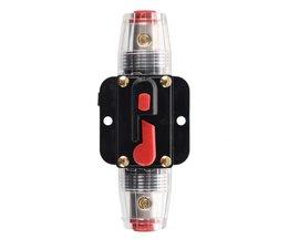 20A Auto Audio Inline Circuit Breaker Zekeringhouder 12 v-24 v Systeem Bescherming Zwart
