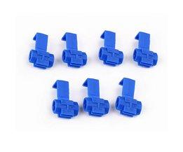 50x Blauw Elektrische Kabel Connectors Snelle Quick Splice Lock Draad Terminals Crimp