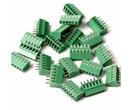 15 Stks 2.54mm Pitch PCB Schroefklemmenblok 3 P 150V6A UL, 130V8A IEC, CE Rohs