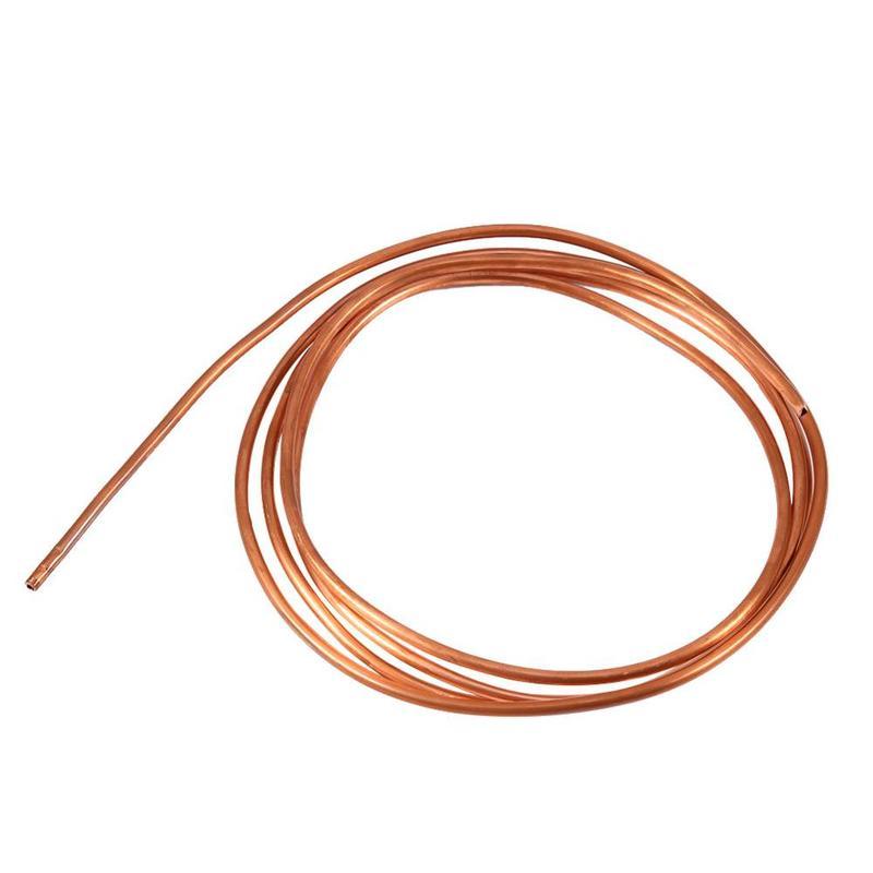 MyXL 2 M Zachte Koperen Buis Pijp OD 4mm x ID 3mm voor Koeling Sanitair Koper Ronde Tubing