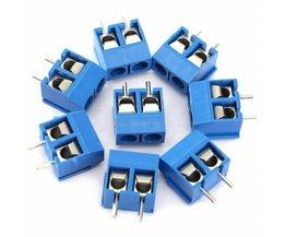40 stks 5.08mm Toonhoogte ConnectorS Blauw 2-Pin Schroefklemmenblok Panel PCB Mount Voor Elektrische Industrie