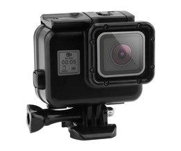 130 voeten waterdichte behuizing case voor gopro hero 5 + touch screen backdoor cover voor go pro hero 5 zwart action camera