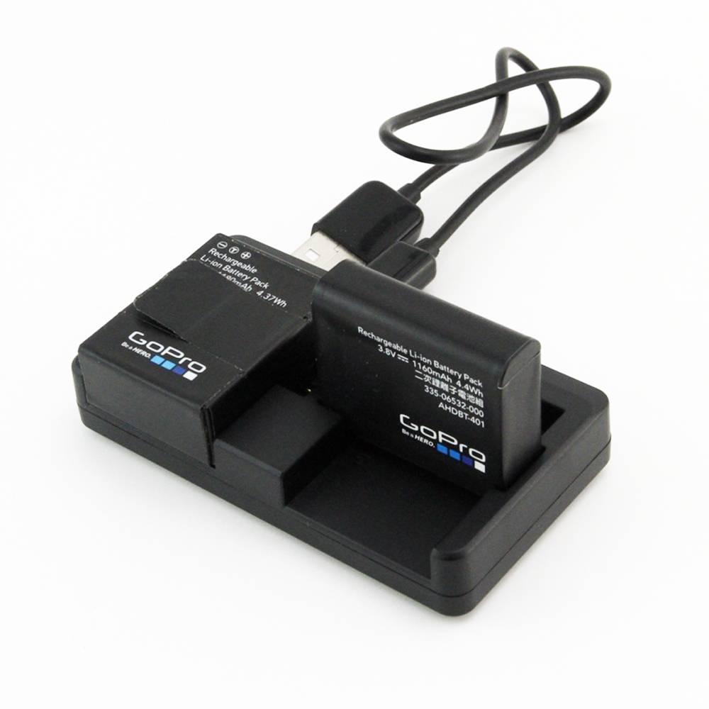 Dual Port USB Batterij Oplader Voor Gopro Hero 4 3 + Go Pro Hero 4 Zwart Sliver Camera Charger Gaan