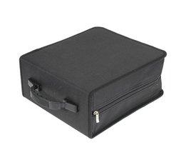 Leory320 Mouwen Zwart CD DVD Dics Media Opslag Draagbare Draagtas Case Wallet Houder Doos Universele