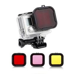 MyXL 3 stks/set 3-in-1 Geel/Rood/Magenta Onderwater Kleuren Kubus Dive Filter Duiken Lens voor GoPro Hero 3 + 4