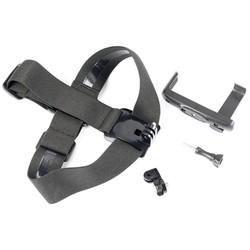 MyXL Gopro head strap mount met telefoon clip/beugel voor iphone huawei samsung voor klimmen/skiën/fietsen sport 360 graden gedraaid