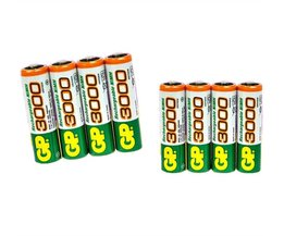 8 stks/partij GP AA 3000 mAh 1.2 V Oplaadbare Mh Batterij voor Zaklamp Laser pen Digitale camera Speelgoed