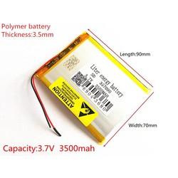 MyXL Gloedbatterij 357090 3.7 V 3500 mAh lithium-polymeer Batterij met Bescherming Boord Voor Tablet PC U25GT