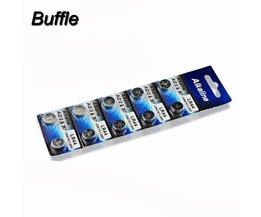 10 stks/pak AG13 & 357A/LR44 KNOOPCEL Batterij Coin LRA76 1.55 V Ion Batterijen voor Kleurrijke Nachtlampje Alarm Projectie Klok