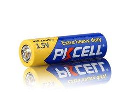 50 stks x pkcell r6p 1.5 v super zware batterij koolstof-zink aa enkele gebruik droge batterij batterijen