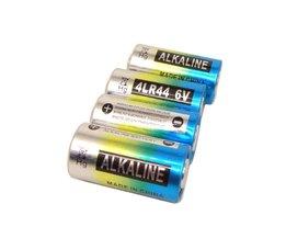10 Stks/partij4LR44 6 V alkaline hond schok kraag batterij
