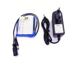 Liitokala12 V 3000 mAh lithium ion 12 V 3Ah camera camera batterij 12.6 V 1A charger eu/us plug