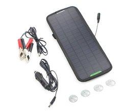 12 V 5 W Monokristallijn Zonnepaneel Auto Automobiel Boot Draagbare Zonnecellen Oplaadbare Power Acculader