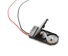 5 Stks/partij Hold 2x CR2032 Knoopcelbatterij Houder Case Opslag Zwarte Doos 6 V Draad Lood OP/OFF Schakelaar