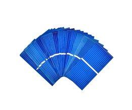 Aoshike 100 St Zonnepaneel Zon Mobiele Sunpower Zonnecel Polykristallijne Fotovoltaïsche DIY Solar Lader 0.5 V 0.2 W 52*26mm
