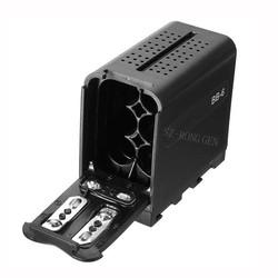 MyXL DV-96/112/160/216 6 stks AA Batterij Case Pack Power als NP-F970 F750 F550 voor LED fotografie lichten VIDEO LIGHT Panelen of Monitor