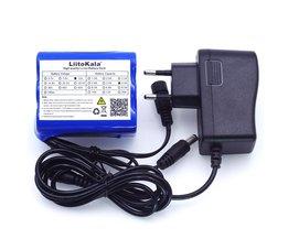 Liitokala 12 V 4.4 Ah 4400 mah 18650 oplaadbare batterij 12 V + PCB lithium accu bescherming boord + 12.6 V 1A Lader