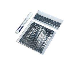 Zonnecel Draad Strip Kit 20 m Tabben Draad PV Linten 2 m Bus Bar Draad Tape 1 Stks Flux Pen Voor DIY Zonnepaneel soldeer
