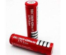 2 stks4200 MAH 18650 Batterij 3.7 v Oplaadbare Li 18650 Batterijen 18650 voor laser voor zaklamp