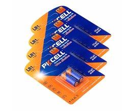 Pkcell alkaline batterij 1.5 v droge batterij model LR1 N batterij AM5 E90 sperker/bluetooth/spelers batterij 8 stks/4 card