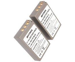 2 St 2000 mAh PS-BLS5 BLS-5 BLS5 BLS-50 BLS50 Batterij voor Olympus PEN E-PL2, E-PL5, E-PL6, E-PL7, E-PM2, OM-D E-M10, E-M10 II, Stylus1