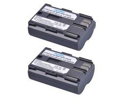 2 stks DuraPro 7.4 V 1800 mAh Camera Batterij BP-511 BP 511 Batterijen voor Canon BP-511 BP-511A BP511 50D 40D 30D D60 D30 5D