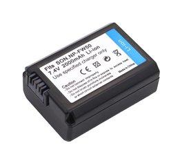 7.4 v 2000 mah np-fw50 np fw50 npfw50 digitale camera batterij voor sony alpha a33 nex-c3 nex-5 nex-7 slt-a55, voor sony accessoires