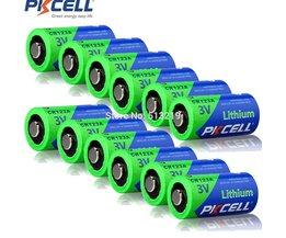 12 Stukken CR123A PKCELL 3 V CR123 123A CR17345 KL23a VL123A DL123A 5018LC EL123AP SF123 Ion niet-oplaadbare Lithium batterij