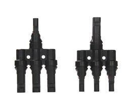 Koop 1 Pairs x MC4 3 T Connector mannelijke en vrouwelijke, MC4 3 Tak Zonnestelsel Connector