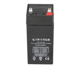 LiangTe Opslag Batterijen 4V4ah loodaccu oplaadbare batterij Voornamelijk voor de LED zaklamp bureaulamp verlichting batterij