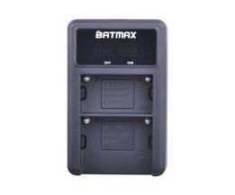 USB LED Dual Channel Quick Digitale Batterij Lader voor SONY F serie NP-F970 F750 F960 F550 FM500h FM50 FM70 FM90 QM71D QM91D