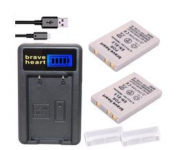 2x Bateria EN-EL5 EN EL5 ENEL5 Batterij + LCD USB Oplader Voor nikon coolpix 3700 4200 p5000 5200 5900 7900 s10 p3 p4 camera