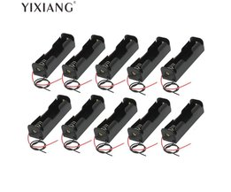 YIXIANG 5 stks/partij Plastic Batterij Houder Opbergdoos Case 18650 Batterij Met Draad Leads 3.7 V Clip Type 18650 Batterij Holde