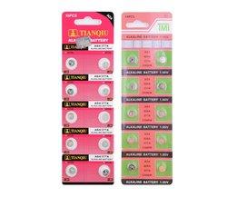 10 stks/pak AG4 LR626 377 Knop Batterijen SR626 177 Cell Coin Alkaline Batterij 1.55 V 626A 377A CX66W Voor Horloge speelgoed Remote
