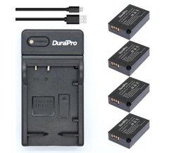 4 st 1040 mAh LP-E17 LPE17 LP E17 Oplaadbare Batterij + Usb-oplader voor Canon EOS Rebel T6i 750D T6s 760D M3 800D 8000D Kus X8i