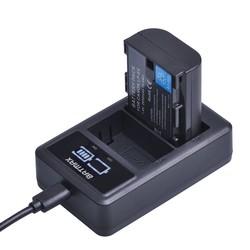 MyXL 1x2650 mAh LP-E6 LP E6 E6N Camera Oplaadbare Batterij + LED USB Dual Charger voor Canon DSLR EOS 60D 5D3 7D 6D 70D 5D Mark II III