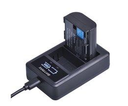 1x2650 mAh LP-E6 LP E6 E6N Camera Oplaadbare Batterij + LED USB Dual Charger voor Canon DSLR EOS 60D 5D3 7D 6D 70D 5D Mark II III